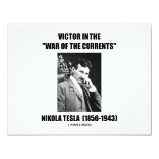 """Victor In the """"War Of The Currents"""" Card"""