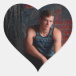 Victor Neil Jones senior pictures Heart Sticker