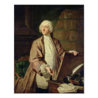 Victor Riquetti , Marquis of Mirabeau, 1743 Poster