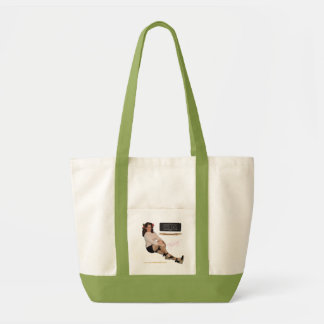 Victor Russell Canvas Pinup Tote Bag
