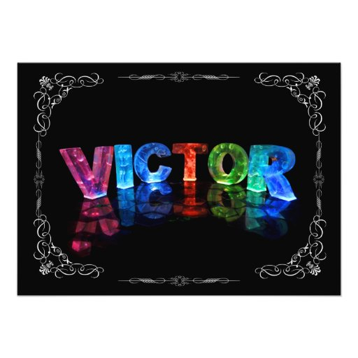 Victor  - The Name Victor in 3D Lights (Photograph