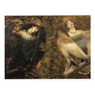 Victor Vasnetsov- los pájaros de la alegría y del  Postal