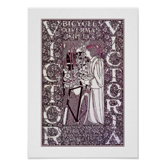 Victor, Victoria Bicycle Posterr by Will Bradley Poster