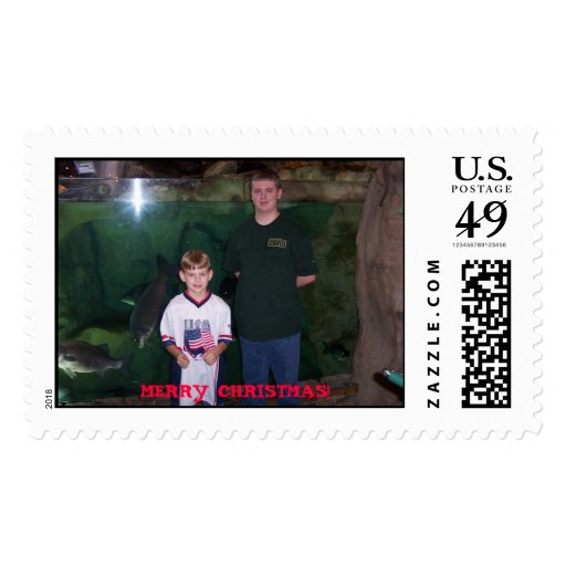 Victor & Vincent Bass Pro Shops.jpg, MERRY CHRI... Stamp