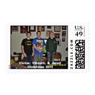 Victor, Vincent, & Jared, Christmas 2011 Stamp