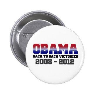 Victoria 2008 - 2012 de Obama Pin