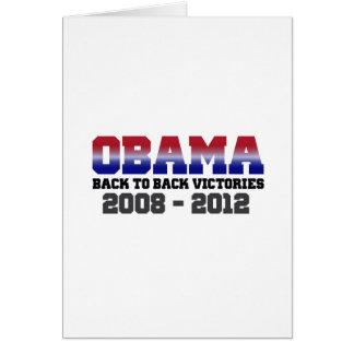 Victoria 2008 - 2012 de Obama Tarjeta De Felicitación