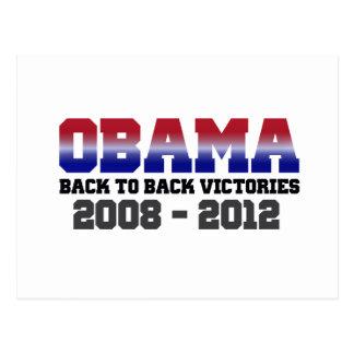 Victoria 2008 - 2012 de Obama Tarjeta Postal