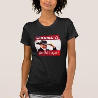 Victoria 2012 de Barack Obama Camisetas