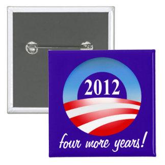 Victoria 2012 de Barack Obama cuatro más años Pin