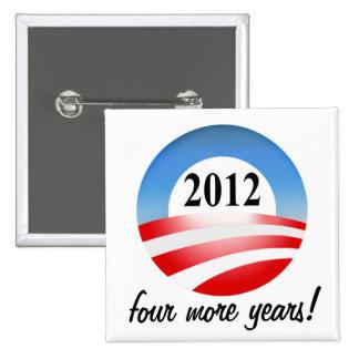 Victoria 2012 de Barack Obama cuatro más años Pins