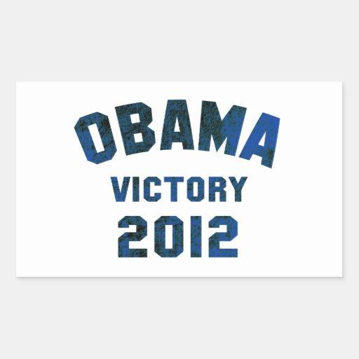 Victoria 2012 de Barack Obama Pegatina Rectangular