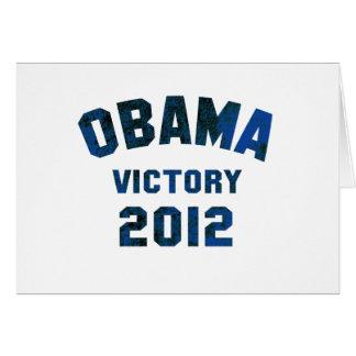 Victoria 2012 de Barack Obama Tarjeta De Felicitación