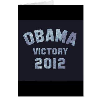 Victoria 2012 de Obama Tarjeta De Felicitación