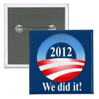 Victoria 2012 de presidente Barack Obama Pin