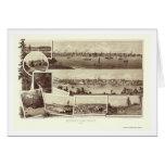 Victoria, A.C., mapa panorámico de Canadá - 1884 Tarjeta De Felicitación