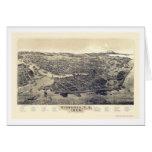 Victoria, A.C., mapa panorámico de Canadá - 1889 Felicitacion