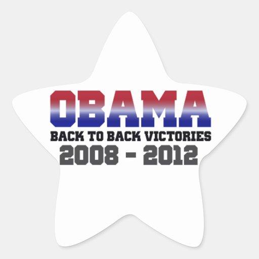 Victoria adosada mutuamente 2008 - 2012 de Obama Pegatina En Forma De Estrella