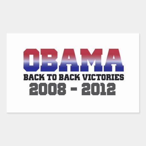 Victoria adosada mutuamente 2008 - 2012 de Obama Rectangular Pegatina