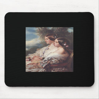 Victoria and her cousin 1852 mouse pad