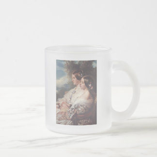 Victoria and her cousin, 1852 10 oz frosted glass coffee mug