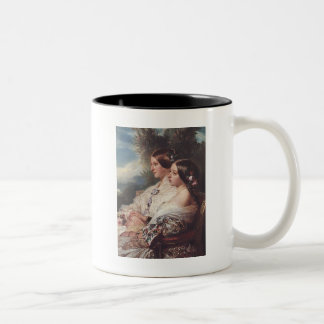 Victoria and her cousin, 1852 Two-Tone coffee mug