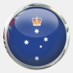 Victoria (Australia) Flag Glass Ball Stickers