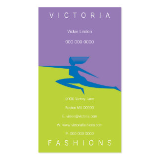 Victoria-Blue Double-Sided Standard Business Cards (Pack Of 100)