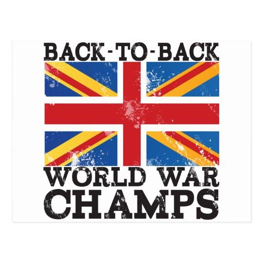 Victoria británica de la guerra mundial postal