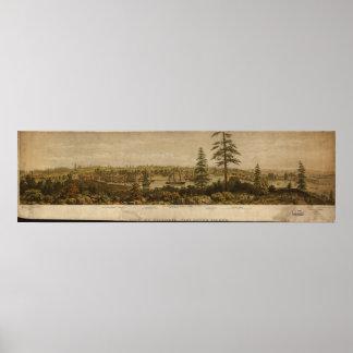 Victoria British Columbia 1860 Antique Panorama Posters