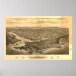 Victoria British Columbia 1878 Antique Panorama Print