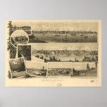 Victoria British Columbia 1884 Antique Panorama Posters