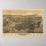 Victoria British Columbia 1889 Antique Panorama Print