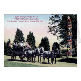 Victoria British Columbia Canada Beacon Hill Park Card