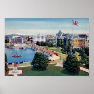Victoria British Columbia Canada Belmont Building Poster
