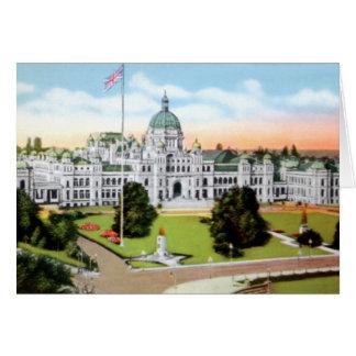 Victoria British Columbia Canada Parliament Bldg Card
