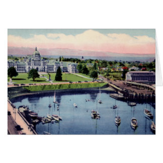 Victoria British Columbia Canada Parliament Ground Card