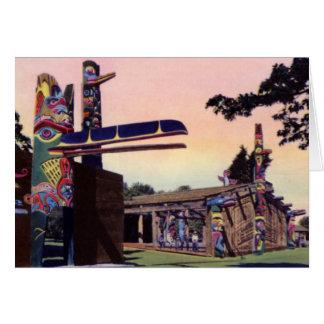 Victoria British Columbia Canada Thunderbird Park Card