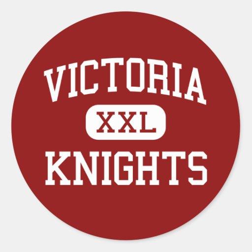 Victoria - caballeros - High School secundaria - Pegatinas Redondas