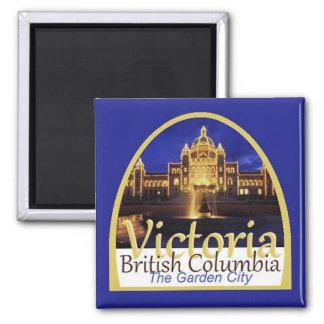 VICTORIA Canadá Imán Cuadrado
