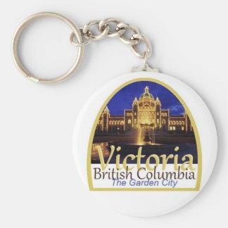 VICTORIA Canadá Llavero Redondo Tipo Pin