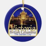 VICTORIA Canada Double-Sided Ceramic Round Christmas Ornament