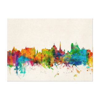 Victoria Canada Skyline Stretched Canvas Print