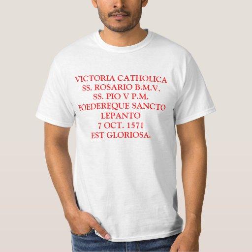 VICTORIA CATHOLICA CAMISIA DE LEPANTO PLAYERAS