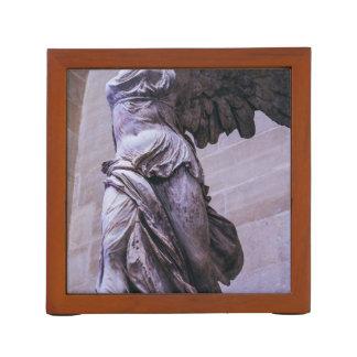 Victoria coa alas de Samothrace, Louvre, París Organizador De Escritorio