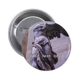 Victoria coa alas de Samothrace, Louvre, París Pin Redondo De 2 Pulgadas