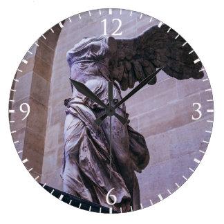 Victoria coa alas de Samothrace, Louvre, París Reloj Redondo Grande