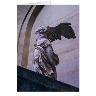 Victoria coa alas de Samothrace, Louvre, París Tarjeta De Felicitación