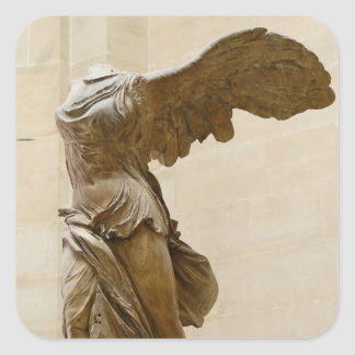 Victoria coa alas de Samothrace Pegatina Cuadrada