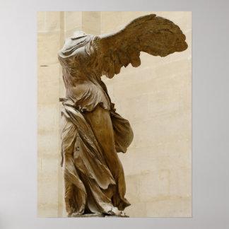Victoria coa alas de Samothrace Póster